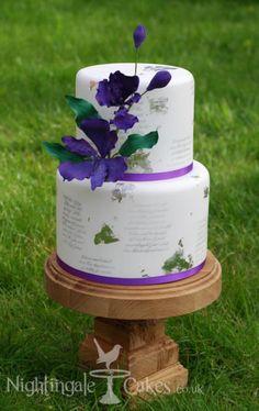 Alstoemeria Wedding Vows cake