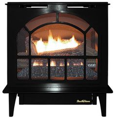 Shelburne 8371 Wood Stove In Matte Black By Hearthstone