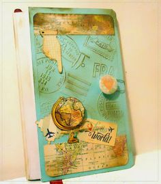 Travel Journal by @imbydesign    for @therubbercafe using @mymindseyeinc #card #stamping #creativecafeKOTM