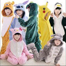 New Baby meninos meninas pijamas outono inverno crianças flanela Animal Animal engraçado ponto panda pijamas infantis macacão pijamas(China (Mainland))