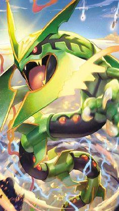 Rayquaza (Pokémon) - Bulbapedia, the community-driven Pokémon encyclopedia Groudon Pokemon, Kalos Pokemon, Pokemon Eevee, Pokemon Backgrounds, Cool Pokemon Wallpapers, Cute Pokemon Wallpaper, Mega Evolution Pokemon, Mega Pokemon, Pokemon Images