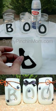 DIY boo halloween lantern | fun Halloween craft and decor idea for a Halloween party! Great tutorial.