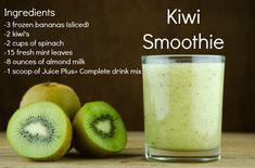 Juice Plus Complete Kiwi Smoothie!GottaGetHealt… – Ice Cream, Popcicl… Juice Plus Complete Kiwi Smoothie!GottaGetHealt… – Ice Cream, Popcicles and Snowcones – Juice Plus Shakes, Milk Shakes, Breakfast Smoothies, Healthy Smoothies, Smoothie Recipes, Juice Recipes, Healthy Protein, Diet Recipes, Healthy Recipes