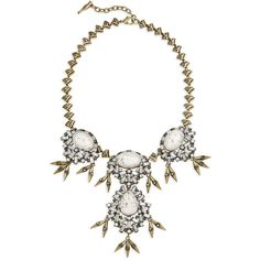 Aventine Convertible Statement Necklace | Chloe + Isabel ($148) ❤ liked on Polyvore featuring jewelry, necklaces, bib statement necklace, statement necklace, chloe isabel jewelry and convertible necklace
