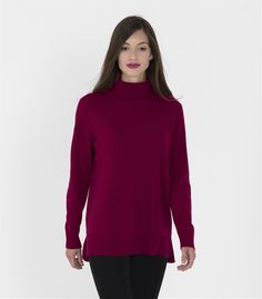Womens Pure Cashmere Chunky Roll Neck Jumper
