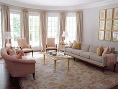 blush living room - Google Search