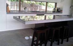 Makers Lane :: Suspended Kitchen concrete Benchtop Custom Made, Bespoke made in Australia.