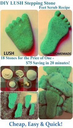* Maria's Self *: How to Make LUSH Stepping Stone Feet Scrub, DIY Recipe (Homemade Gift Idea for St.Valentine's Day, Birthday, Mother's Day or Christmas) - Cheap, Simple and Easy LUSH Products!