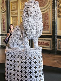 Animal and Insect Sculptures Wrapped in Crocheted Webbing by Joana Vasconcelos