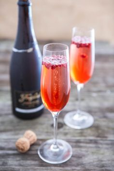 Sparkling Pomegranate Cocktail by EclecticRecipes.com #recipe