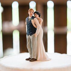 A Sweet Embrace Wedding Cake Topper