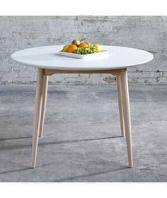 Table ronde scandinave diamètre 1m05 avec rallonge
