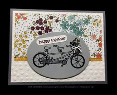 Handmade card using the Sale-a-Bration Pedal Pusher Stamp Set from Stampin' Up!