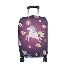 Cute Collorful Mountain Print Luggage Protector Travel Luggage Cover Trolley Case Protective Cover Fits 18-32 Inch