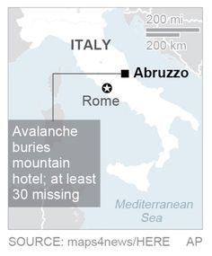 30 missing in Italy avalanche that buries hotel - Europe - Stripes