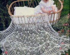 PDF Shetland LaceShawl Knitting Pattern - 1ply / fingering Baby Shawl  I have updated this listing and added a second downloadable file. This is the