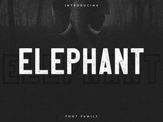 Elephant Font Family - Free Font! by Vlad Fedotov