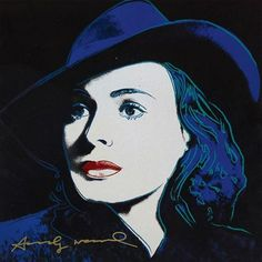 Andy Warhol, With Hat, from Ingrid Bergman, 1983 ㊗️🉐💮ART AND IDEAS : More At FOSTERGINGER @ Pinterest  🉐💮㊙️㊗️🈴