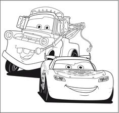 Printable Cartoon Cars Coloring Pages Coloring Pages Cars