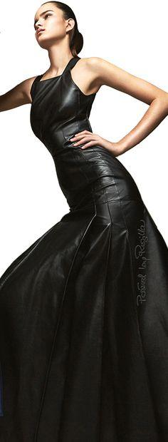 Regilla ⚜ Hermès leather dress  Leather gown