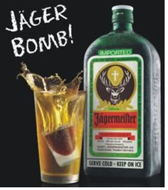 Jager Bomb!!  1 shot Jagermeister Half a glass of Redbull (I prefer Rockstar)  Drop the shot of Jager in the glass and chug!