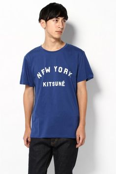 KITSUNE TEE NEWYORK KITSUNE T-shirt Original text