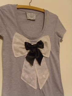 diy bow shirt