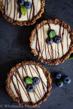Tasty Tarts! Raw tarts filled with a decadent condensed coconut milk and white chocolate ganache. | wholesomepatisserie.com