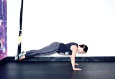 TRX Atomic Push-Up? Yeah you read that right. It's about to get real. http://www.thecoveteur.com/full-body-workout-at-home-for-women/