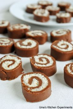 My Kitchen Experiments: No Bake Choco Pinwheels