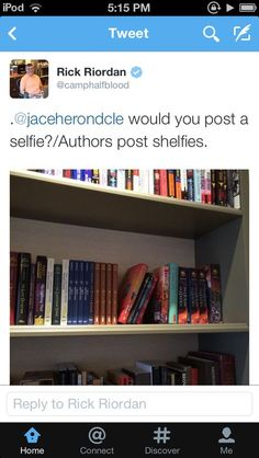I need to post a shelfie! Apparently there's an app for that now.