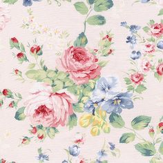 "Cotton 100% bed clothes dress fabric vintage shabby floral matching prints 44""w"