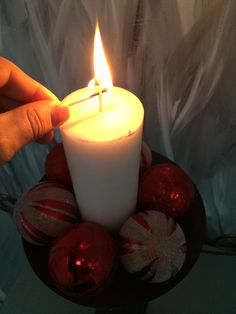 Simple christmas candle light