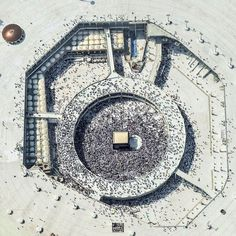 Aerial view of Masjid-Al-Haram, Makkah. Masjid Al Haram, Greatest Mysteries, Islam Religion, Madina, Under Construction, Islamic Art, Islamic Quotes, Aerial View, Art And Architecture