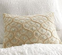 Star Embroidered Lumbar Pillow Cover      Free Shipping     New     Online/Catalog Only  $49
