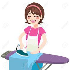 44288116-Joven-hermosa-mujer-sonriente-feliz-planchar-ropa-en-casa-Foto-de-archivo.jpg (1300×1300)