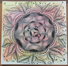 18/100 of 100 Mandala Challenge. Featuring Crescent Moon tangle pattern.