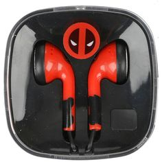 Hot Topic Marvel Deadpool Earbuds ($8.75) ❤ liked on Polyvore featuring accessories, tech accessories, multi, red earbuds and earphones earbuds