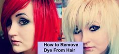 How to remove dye from hair