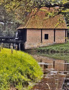 Delden, Hof van Twente, the Netherlands. The Noordmolen belongs to the estate Twickel since 1347. It is an oil mill, where flax seed is pressed into oil. (by: harry eppink)