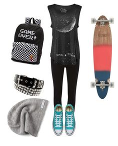 """""""Back to school #2"""" by baconkat on Polyvore featuring Dorothy Perkins, Vans and Converse"""