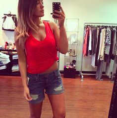 the perfect short! Boyfriend Shorts, One Shoulder, Blouse, Tops, Women, Fashion, Moda, Fashion Styles, Blouses