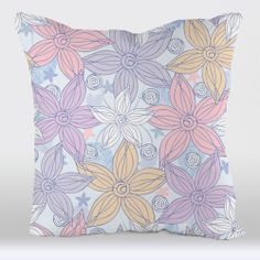 pillow #cover #flowers #spring #textil #pattern #pink #design #uneekee