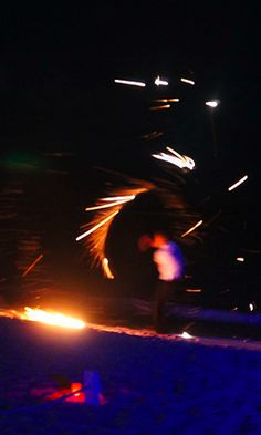 The Fire Show at La Plage's I Love Fridays party, St Barth, where you can dance on a table beachside and party all night long
