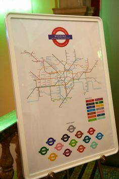 Tube map table plan from www.gemmamilly.com