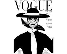 """La 'it girl' de los 50 por VOGUE: """"El 'New look' y el binomio blanco & negro""""."""