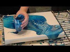 pintando con la técnica Pouring...desde Asturias - YouTube