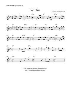 tenor saxophone sheet music - Bing Images