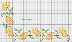 Maria Gomes Cross Stitch Cards, Cross Stitch Borders, Cross Stitch Rose, Cross Stitch Patterns, Free To Use Images, Floral Border, Bookmarks, Needlework, About Me Blog