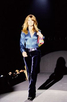 Kate Moss for Gucci Fall 1995 Ready-to-Wear collection.